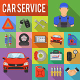 Car Service Set Vector Icons