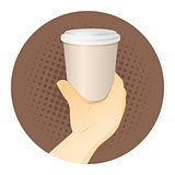 Paper Coffee Cup in Hand