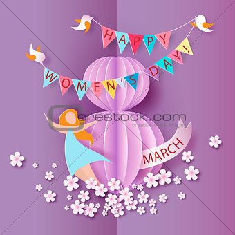 Abstract pink background with text