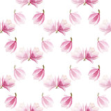 spring blooming magnolia pattern. watercolor seamless background.seasonal design for print,wrapping paper.