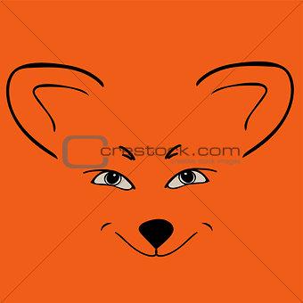 Fox red head animal Sly eyes.