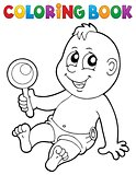 Coloring book baby theme image 7