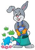 Rabbit gardener theme image 3