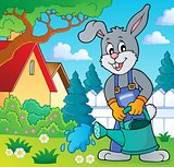 Rabbit gardener theme image 4