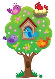 Tree with stylized birds theme image 3