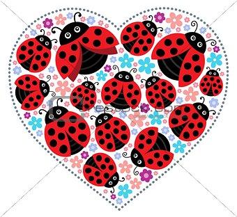 Valentine ladybugs theme image 1