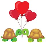 Valentine turtles theme image 2