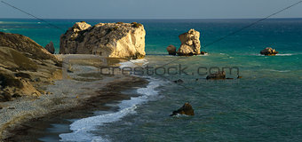 Aphrodite stones and beach