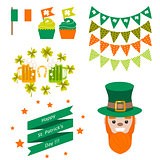 Saint Patricks day party vector objects.