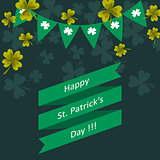Happy St. Patricks day vector greeting illustration.