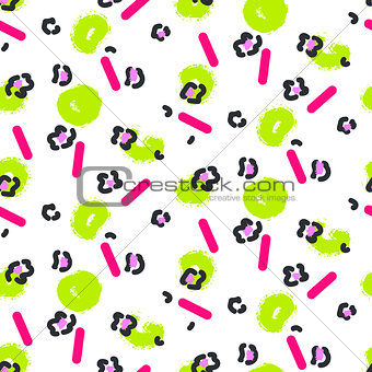 Abstract leopard stain and green spots pattern.