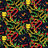 Serpent tangle and cobra black seamless pattern vector.