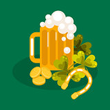 Irish St. Patrick festival vector illustration.