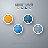 Infographics timeline template with circles