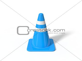 3d illustration of red traffic cone.