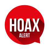 Hoax Alert speech bubble