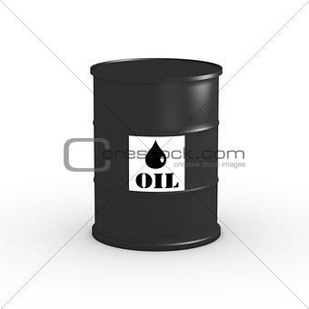 Oil Barrel  on white background 3D illustration