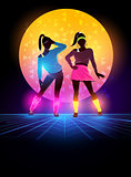 1980's Women Dancers Background