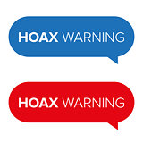 Hoax Warning speech bubble