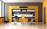 Orange and gray modern office