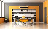 Orange and gray modern office