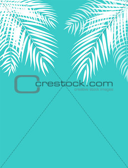 Beautifil Palm Tree Leaf  Silhouette Background Vector Illustrat