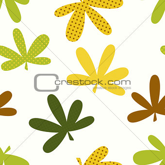 Abstract Natural Leaves Seamless Pattern Background
