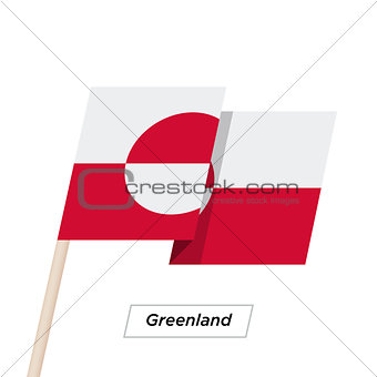 Greenland Ribbon Waving Flag Isolated on White. Vector Illustration.