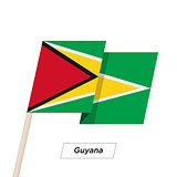 Guyana Ribbon Waving Flag Isolated on White. Vector Illustration.