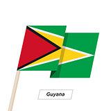 Guyana Ribbon Waving Flag Isolated on White. Vector Illustration.