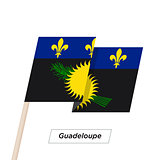 Guadeloupe Ribbon Waving Flag Isolated on White. Vector Illustration.