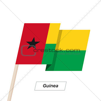 Guinea Ribbon Waving Flag Isolated on White. Vector Illustration.