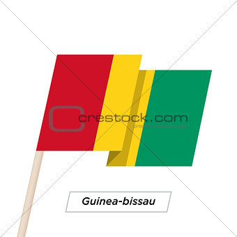 Guinea-bissau Ribbon Waving Flag Isolated on White. Vector Illustration.