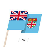 Fiji Ribbon Waving Flag Isolated on White. Vector Illustration.