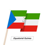 Equatorial Guinea Ribbon Waving Flag Isolated on White. Vector Illustration.