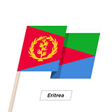 Eritrea Ribbon Waving Flag Isolated on White. Vector Illustration.