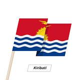 Kiribati Ribbon Waving Flag Isolated on White. Vector Illustration.
