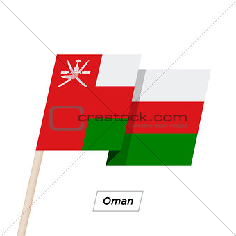 Oman Ribbon Waving Flag Isolated on White. Vector Illustration.