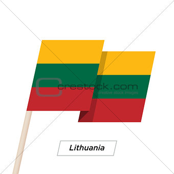 Lithuania Ribbon Waving Flag Isolated on White. Vector Illustration.