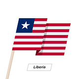 Liberia Ribbon Waving Flag Isolated on White. Vector Illustration.