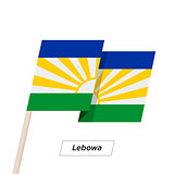 Lebowa Ribbon Waving Flag Isolated on White. Vector Illustration.