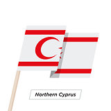Northern Cyprus Ribbon Waving Flag Isolated on White. Vector Illustration.