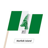 Norfolk Island Ribbon Waving Flag Isolated on White. Vector Illustration.