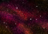 Night Sky with Stars and Red Nebula. Space Background. Large image.