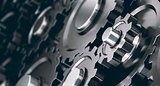Horizontal Gear cogs background