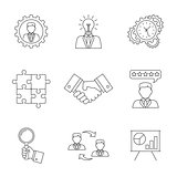 Management line icons