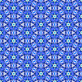 Complex blue pattern whith stars