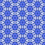 Blue complex pattern