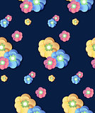 Colorful Flower print seamless background