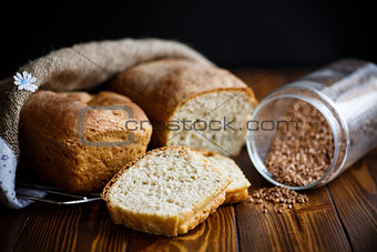 fresh homemade buckwheat bread